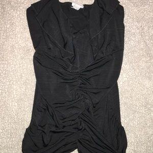 Flattering black vanity tank top